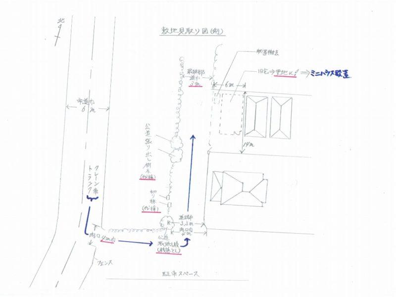 敷地見取り図の例